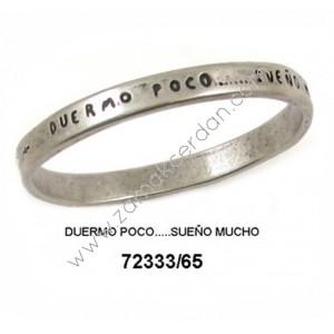 """PULSERA ARO """"DUERMO POCO…SUEÑO MUCHO"""""""