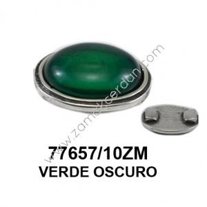 ENTREPIEZA CON PIEDRA VERDE OSCURO