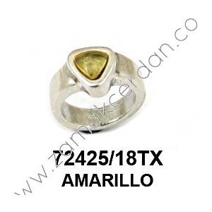ANILLO RESINA TRIÁNGULO AMARILLO