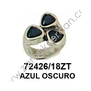 ANILLO TRES RESINAS AZUL OSCURO