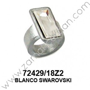ANILLO RECTANGULAR SWAROVSI BLANCO