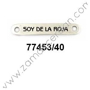 """ENTREPIEZA CHAPA """"SOY DE LA ROJA"""""""