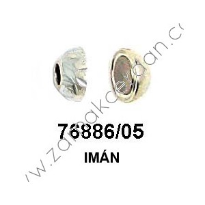 MAGNETIC CLASP ROUND  HAMMERED INNER 5