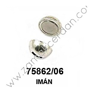 MAGNETIC CLASP ROUND FLAT INNER 6MM