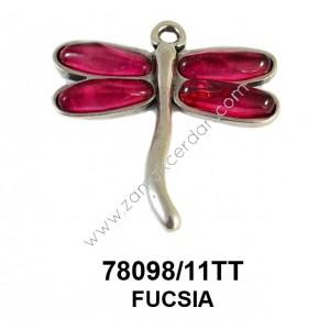 PENDANT DRAGON-FLY 4  S FUCSIA
