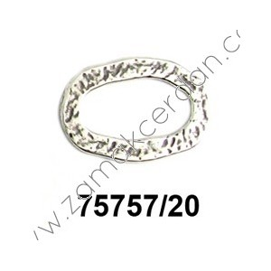 RING OVAL FLAT HAMMERED