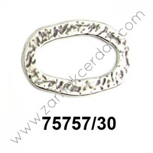 RING OVAL FLAT HAMMERED BIG