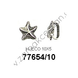 SLIDER BEAD HALF ROUND STARFISH SMALL