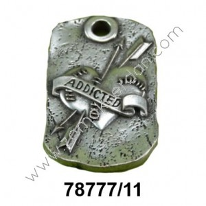PENDANT MILITARY HEART ADDICTED